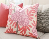 Caitlin Wilson - Purple Pillow - Coral Designer Pillow Cover - Floral Pink Pillow - Pink Chinoise Pillow - Lilac - Radiant Orchid