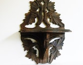 Very Old Wooden Folding Wall Shelf