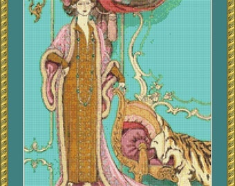 Manon Fille Galante Cross Stitch Pattern