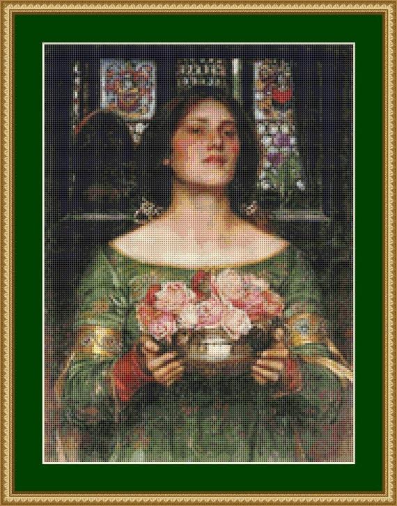 Gather Ye Rosebuds While Ye May II Cross Stitch Pattern /Digital PDF Files /Instant downloadable