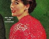 Vintage 1950s Lace Motif Bolero Shrug Wrap 352 PDF Digital Crochet Pattern