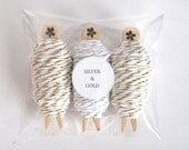 Bakers Twine Christmas 3 pack - Divine Twine Gold and Silver