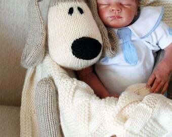 Dog Toy Baby Blanket - knitting pattern