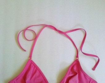 Vintage Pink Victoria's Secret Bikini Top with Underwire / 36 B