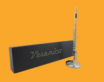 Miniature Flute Personalized - Gift for Musiciain (CSFL)
