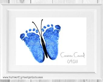 Butterfly Footprint Baby Memorial Keepsake (2014 design)