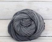 Calypso - Hand Dyed Superwash Merino Wool DK Light Worsted Yarn - Colorway: Pewter