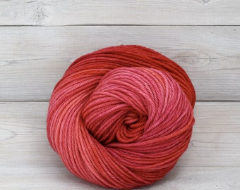 Supernova - Hand Dyed Superwash Merino Wool Worsted Yarn - Colorway: Popsicle