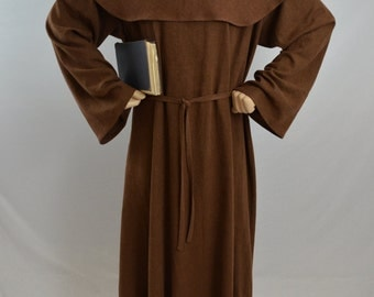 Medieval Monk Robe and Hood with color options