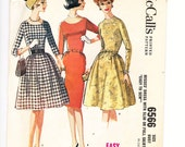 Classic Sixties Fashion, Dress in Six Styles, Size 14, Bust 34, McCalls 6566, Mid Century Fashion