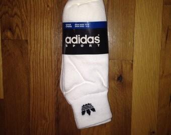 vintage adidas sport socks 3-pack mens size 10-13
