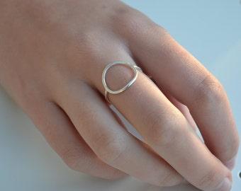 Silver Full Circle Ring