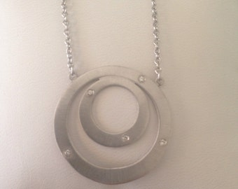 White Gold Eternity Necklace