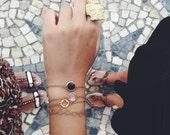 22k Four Leaf Clover Bracelet - Minimalist Jewelry