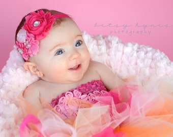 Baby Headband, Shades of Pink Baby Headband, Infant Headband, Newborn Headband, Baby Headband, Girls Headband, Pink Baby Headband