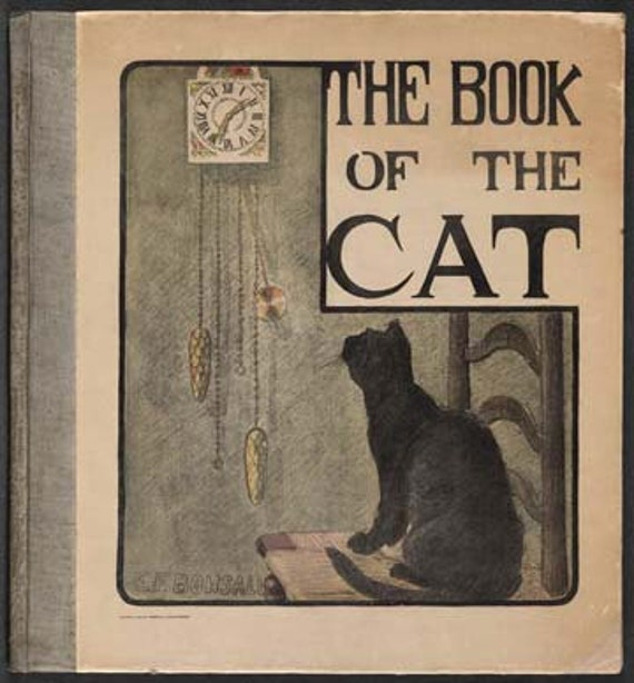 Book Cover Art Etsy : Items similar to the book of cat vintage cover