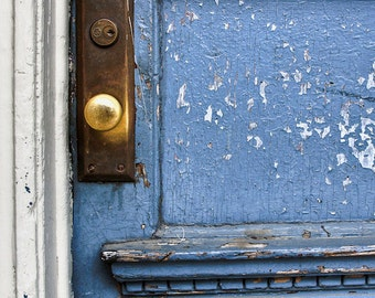 blue door - fine art photography, 4x6 5x7 8x10, philadelphia philly old city architecture door