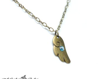 Tsubasa: Cute Wing Swarovski Crystal Necklace