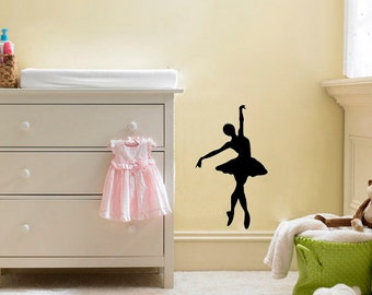Ballerina Wall Decal Black Or White   Your Choice Of Image In Various Sizes. Part 55