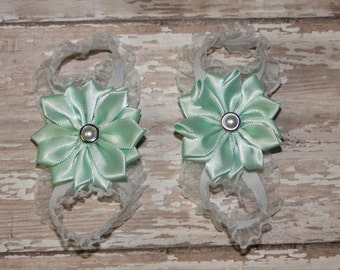 Mint Green Barefoot Baby Sandals, Barefoot Sandals, Mint Baby Sandals, Bottomless Baby Sandals, Baby Girl Sandals, Barefoot Baby Sandals