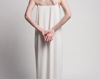 Beach Wedding Dress - Simple Wedding Dress - Wedding Dress -  Sheer Wedding Dress