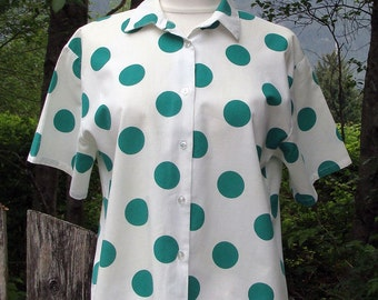 80's Jumbo Dot Button Up