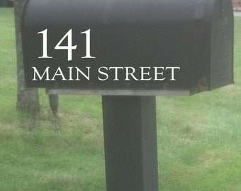 Custom Mailbox House Number and Address Decal, Mailbox Decal, Vinyl Decal, Vinyl Lettering, Mailbox Number Sticker, Mailbox Address Sticker