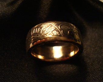 France, Bronze 10 Franc Coin Ring