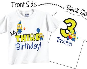 3rd Birthday Shirts for Boys, Third Brithday Shirts and Third Brithday Tees