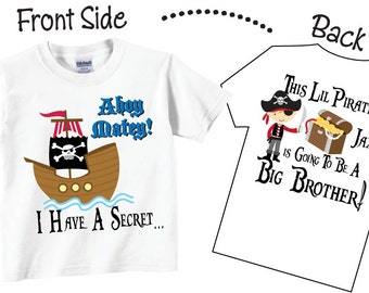 I'm Going To be A Big Brother Shirts and Tshirts with Pirate Tees