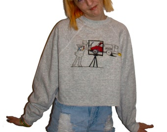 Awesome Cropped Seniors Class Crewneck Grandpa Sweater