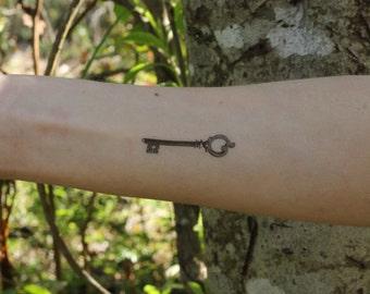 Vintage Skeleton Key Temporary Tattoo