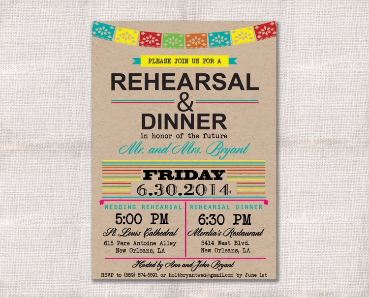 Who Is Invited To The Wedding Rehearsal Dinner: Fiesta Wedding Rehearsal Dinner Invitation By