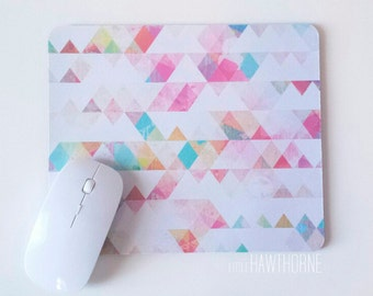 Geometric Mouse Pad / Mousepad / Personalized Mouse Pad / Office Desk Accessories