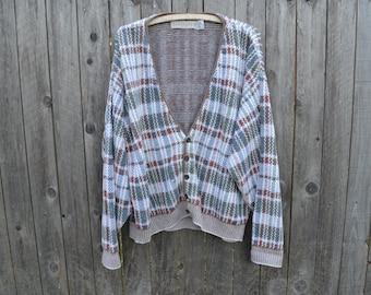 Vintage Crossings Fine Line Cardigan// Large// Pastels