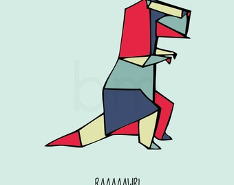 INSTANT DOWNLOAD, Raaaaawr! Means I love you in dinosaur, 8x10 typography poster, kids bedroom art, nursery decor, whimsical, printable art