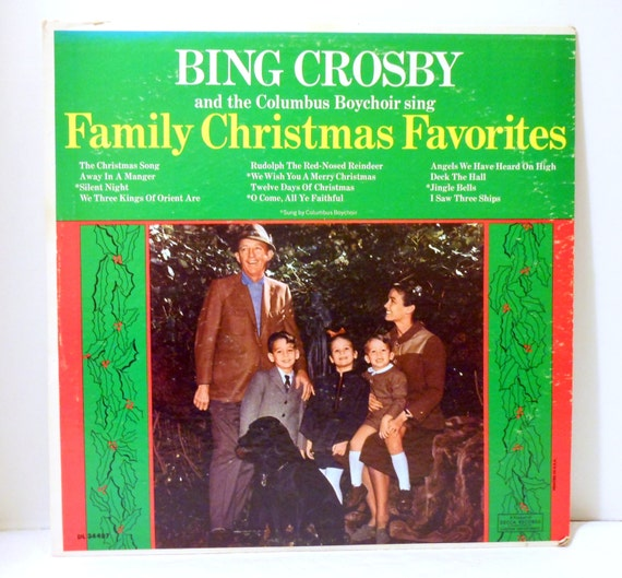 Bing crosby family christmas favorites vintage vinyl lp 1960 s record
