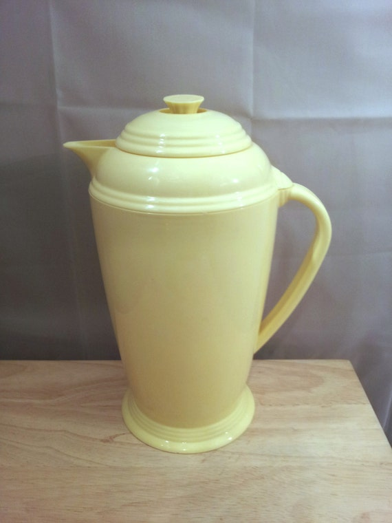 Sale Vintage Fiestaware Pitcher Yellow Coffee By Kittenspaws