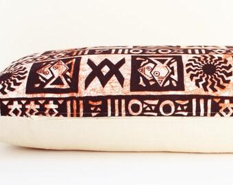 Home Decor Pillow, Sofa Pillow, Bohemian Pillow, Geometric Pillow, Ethnic Pillow, Tribal Pillow, 16 x 26 Pillow, Large Pillow, Long Pillow