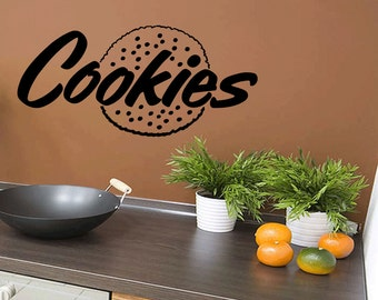 Wall Quotes Cookies Decal Sticker Vinyl Wall Decal Quote Removable Kitchen Wall Sticker Home Decor (477)