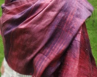 Purple Silk Scarf, Silk Shawl, Silk Scarf, Purple Scarf, Purple Shawl, Boho Scarf, Boho Shawl, Hippie Scarf, Hippie Shawl, Scarf, Shawl