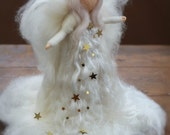 Needle Felted, CHOOSE Silver or Gold Stars, Christmas, Tree Top, Angel, Heirloom, Tree topper, Waldorf, White, Xmas,Nativity, White, Star