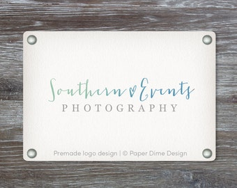 Premade Custom Business Logo Design, Photography, Boutique, Professional Branding