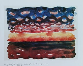 """On Sale: Sunrise and Little Clouds II, 1916"""" by Georgia O'Keeffe. Home decor, vintage reproduction art print"""