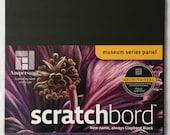 Ampersand Scratchbord Flat Panel 8x10 Claybord Black Scratchboard