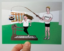 "Funny Birthday Card - Funny Card - Birthday Card Friend - Birthday Card For Her - Girlfriend Birthday - Birthday Excercise - ""GYM CAKE"""