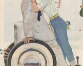 Vintage Story Illustration Saturday Evening Post December 15 1956