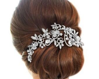 Rhinestone Bridal Hair Comb, Rhinestone Wedding Hair Comb, Wedding Headpiece, Wedding Hair Jewelry, Vintage Style Hair Comb, Cb1