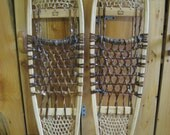 Green Mtn. Bearpaw Wood and Rawhide Traditional Snowshoes