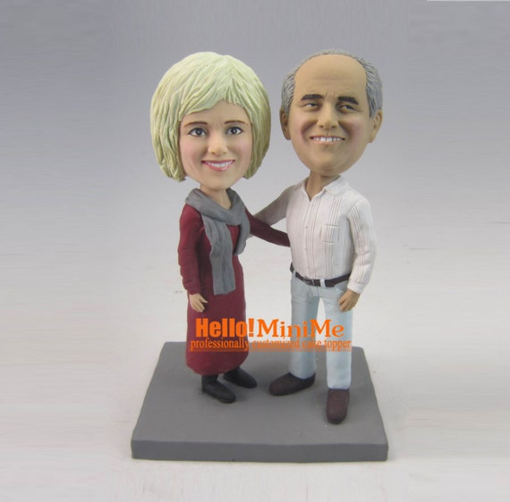 bobblehead wedding cake toppers personalized anniversary cake toppers bobblehead custom wedding cake topper 12068